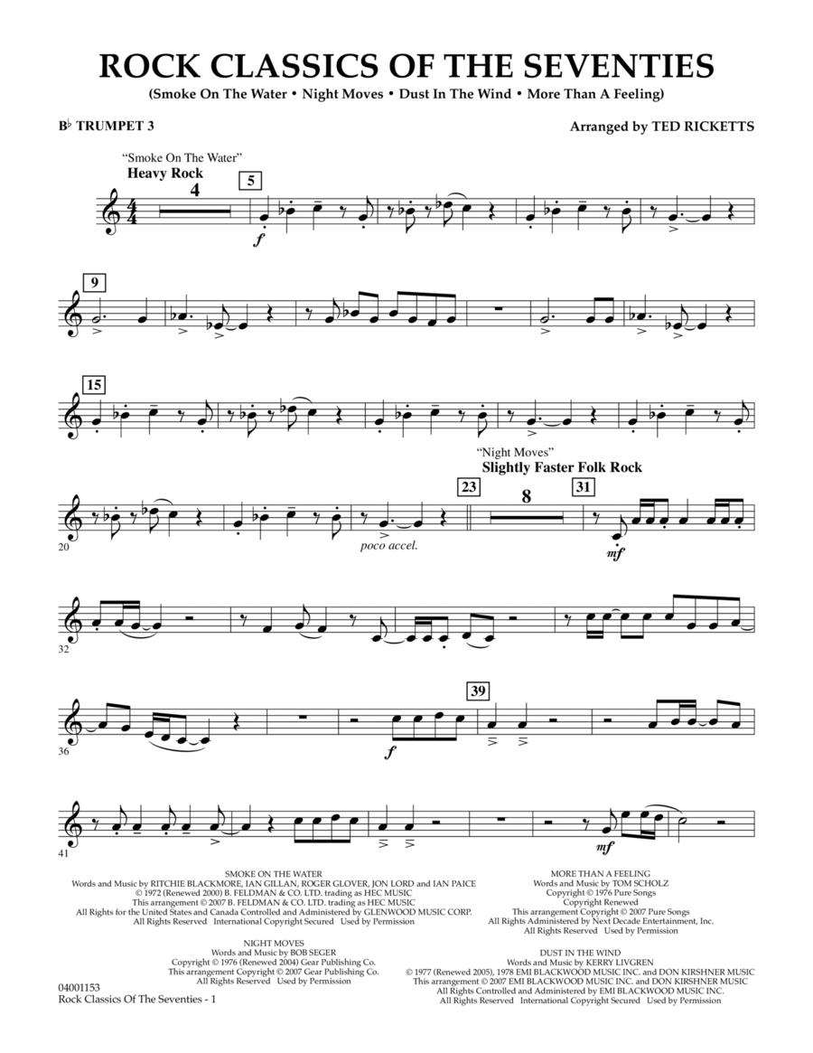Rock Classics Of The Seventies - Bb Trumpet 3