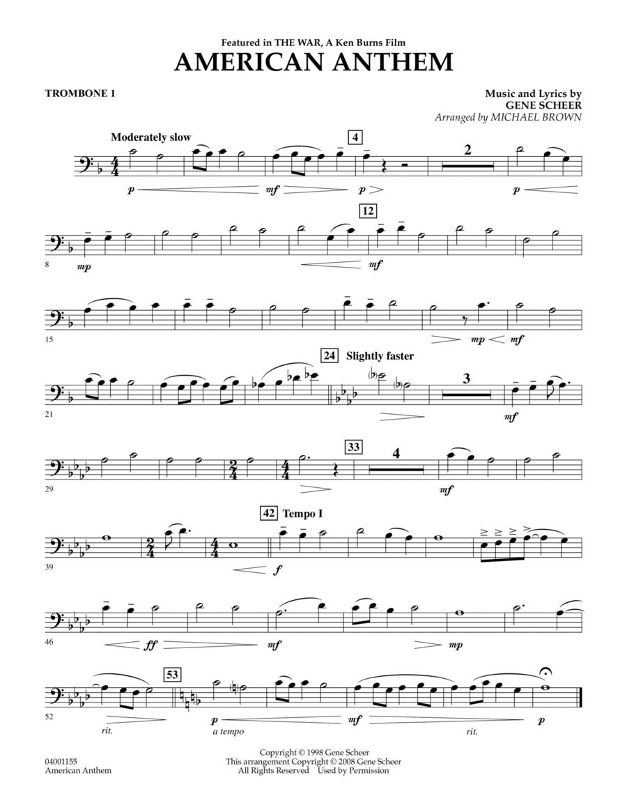 American Anthem (from The War) - Trombone 1