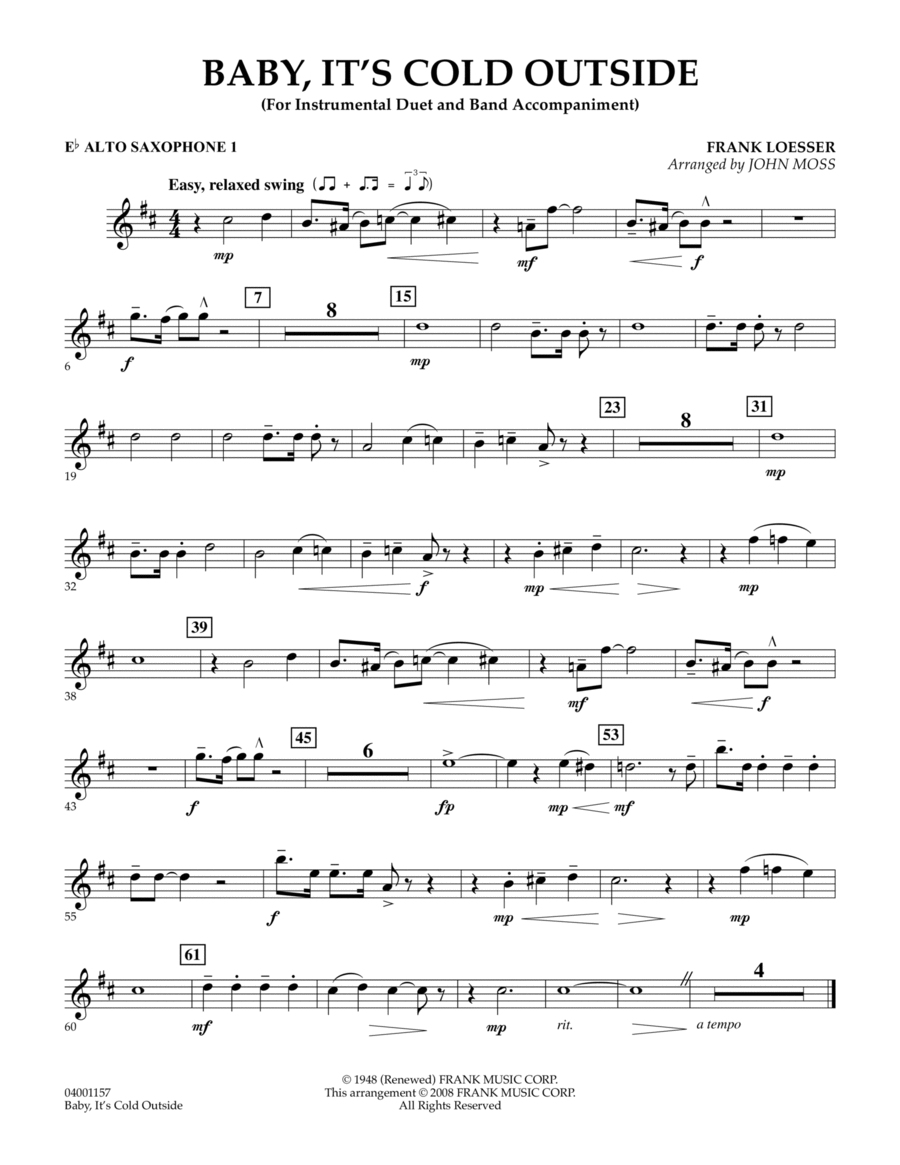 Baby, It's Cold Outside - Eb Alto Saxophone 1