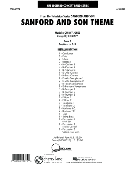 Sanford And Son Theme - Full Score