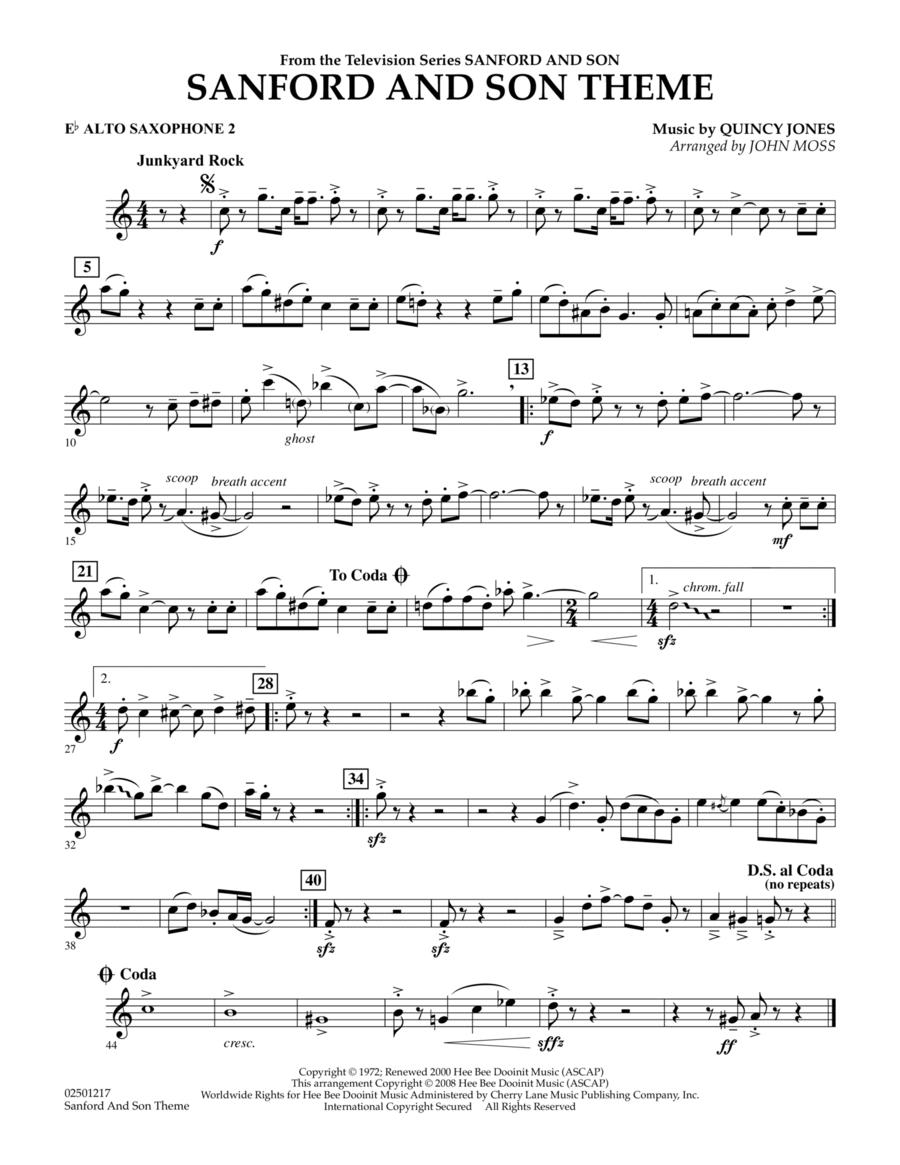Sanford And Son Theme - Eb Alto Saxophone 2