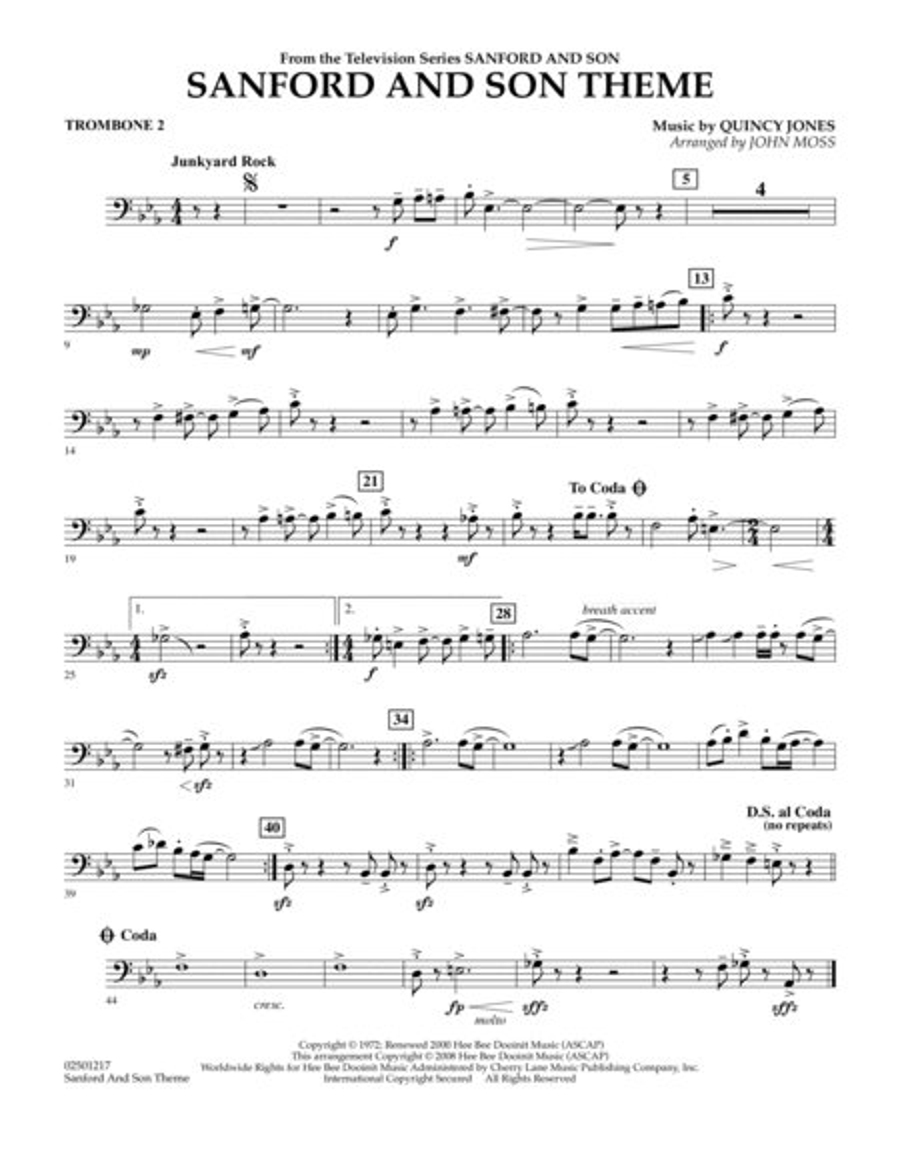 Sanford And Son Theme - Trombone 2