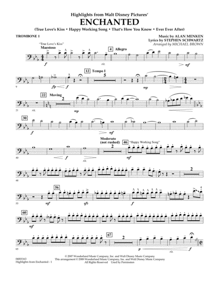 Highlights from Enchanted - Trombone 1