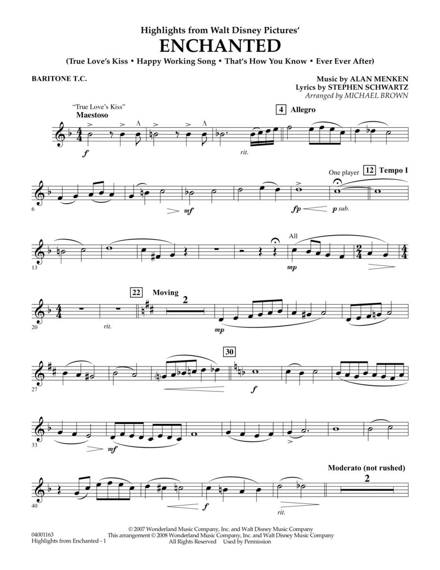 Highlights from Enchanted - Baritone T.C.