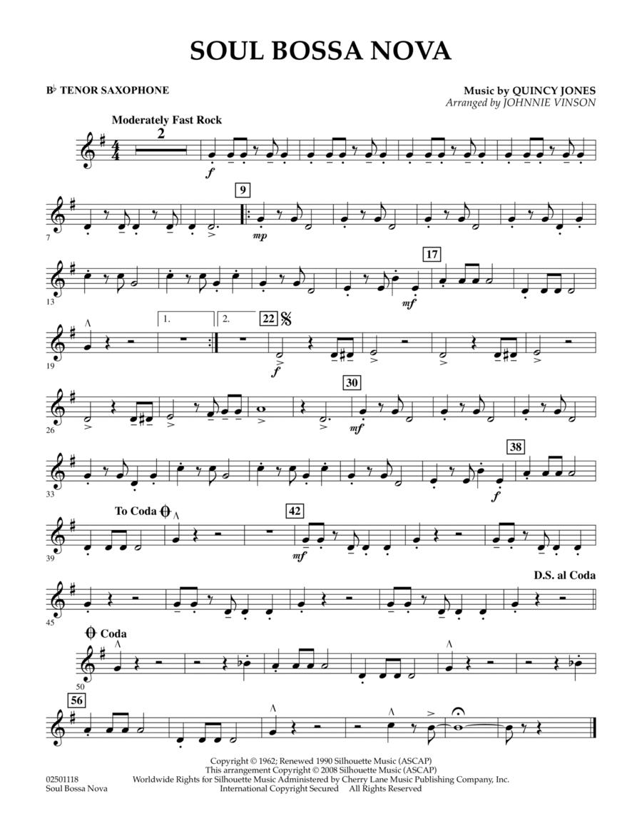 Soul Bossa Nova - Bb Tenor Saxophone