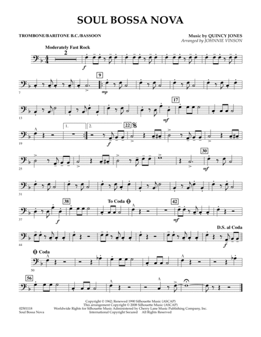 Soul Bossa Nova - Trombone/Baritone B.C./Bassoon