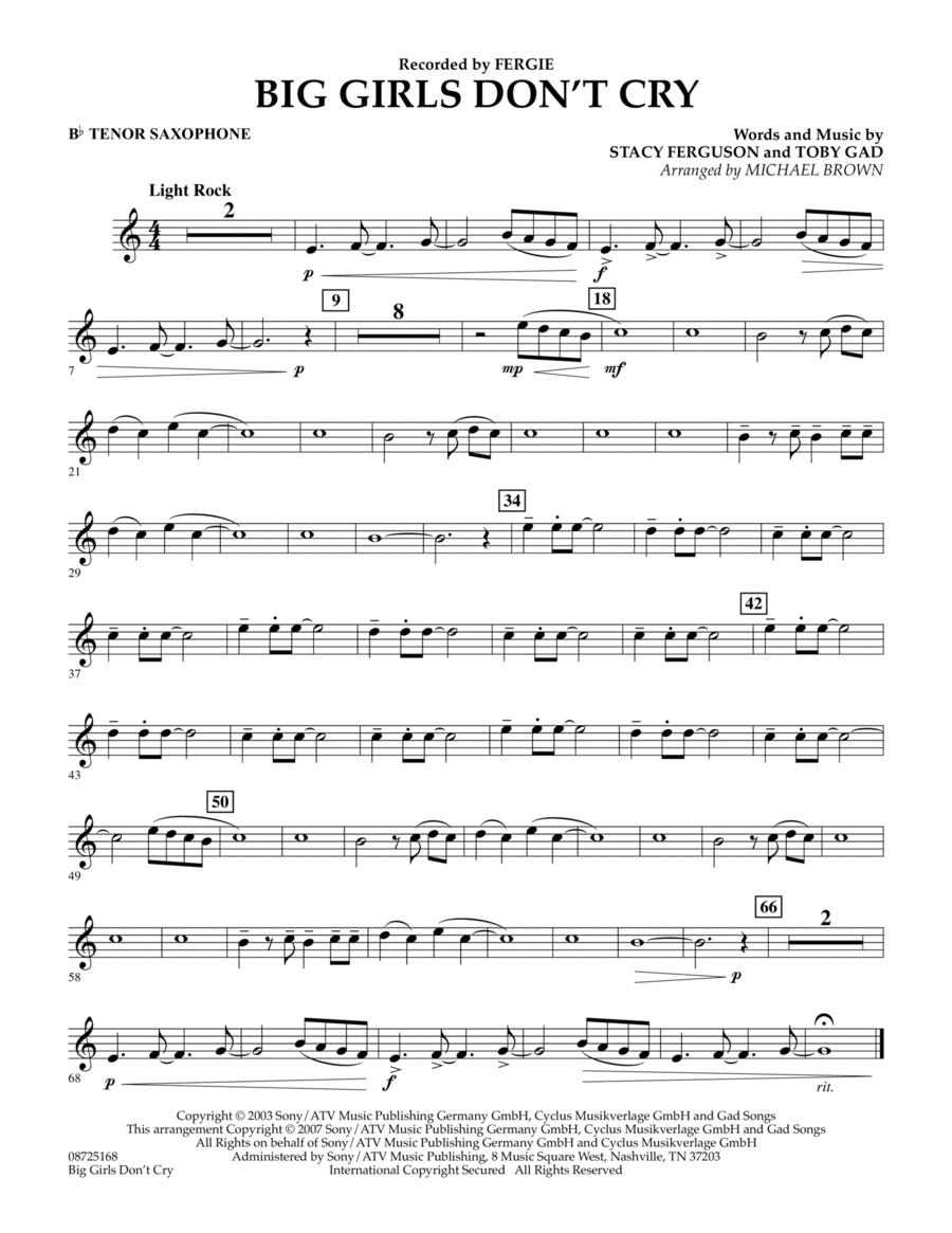 Big Girls Don't Cry - Bb Tenor Saxophone