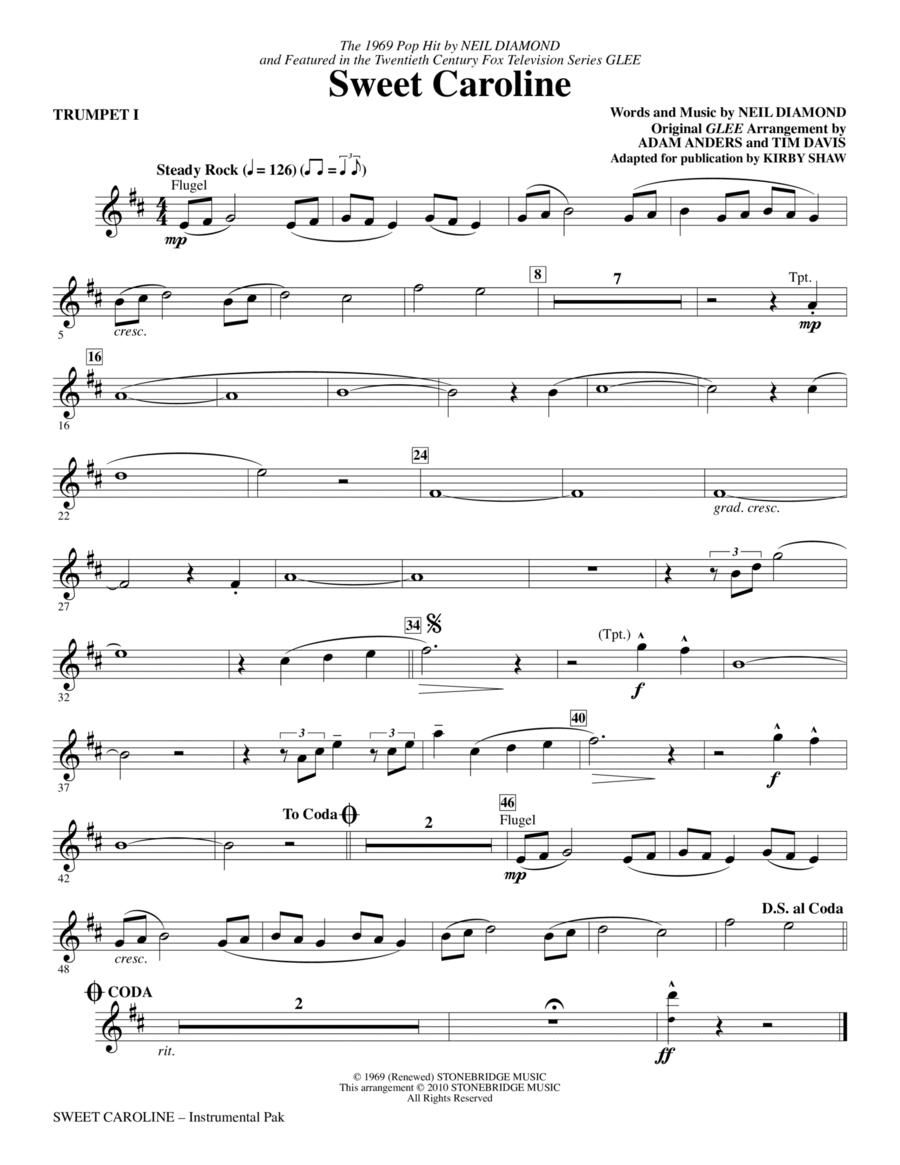 Sweet Caroline - Trumpet 1
