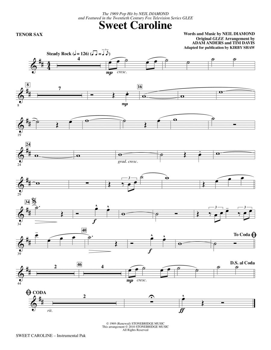 Sweet Caroline - Tenor Sax