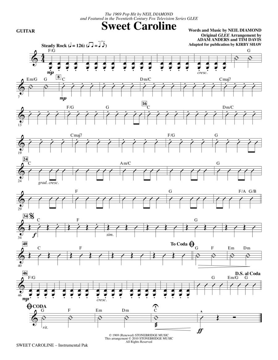 Sweet Caroline - Guitar