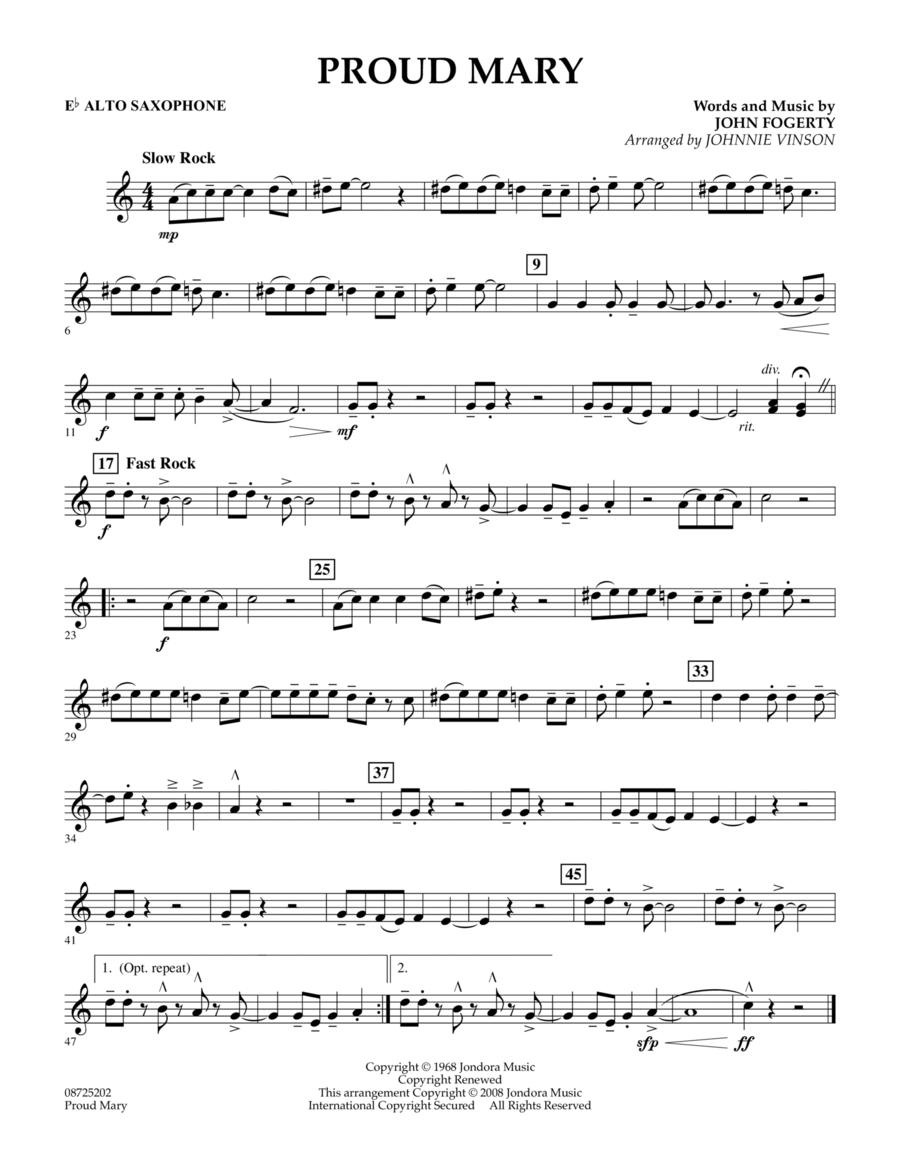 Proud Mary - Eb Alto Saxophone