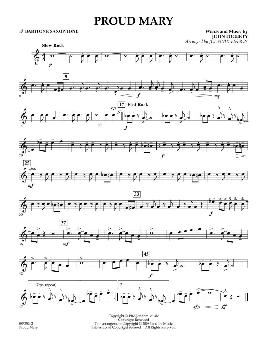 Proud Mary - Eb Baritone Saxophone
