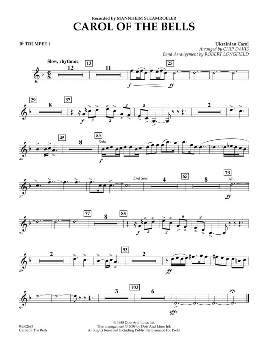 Carol Of The Bells - Bb Trumpet 1