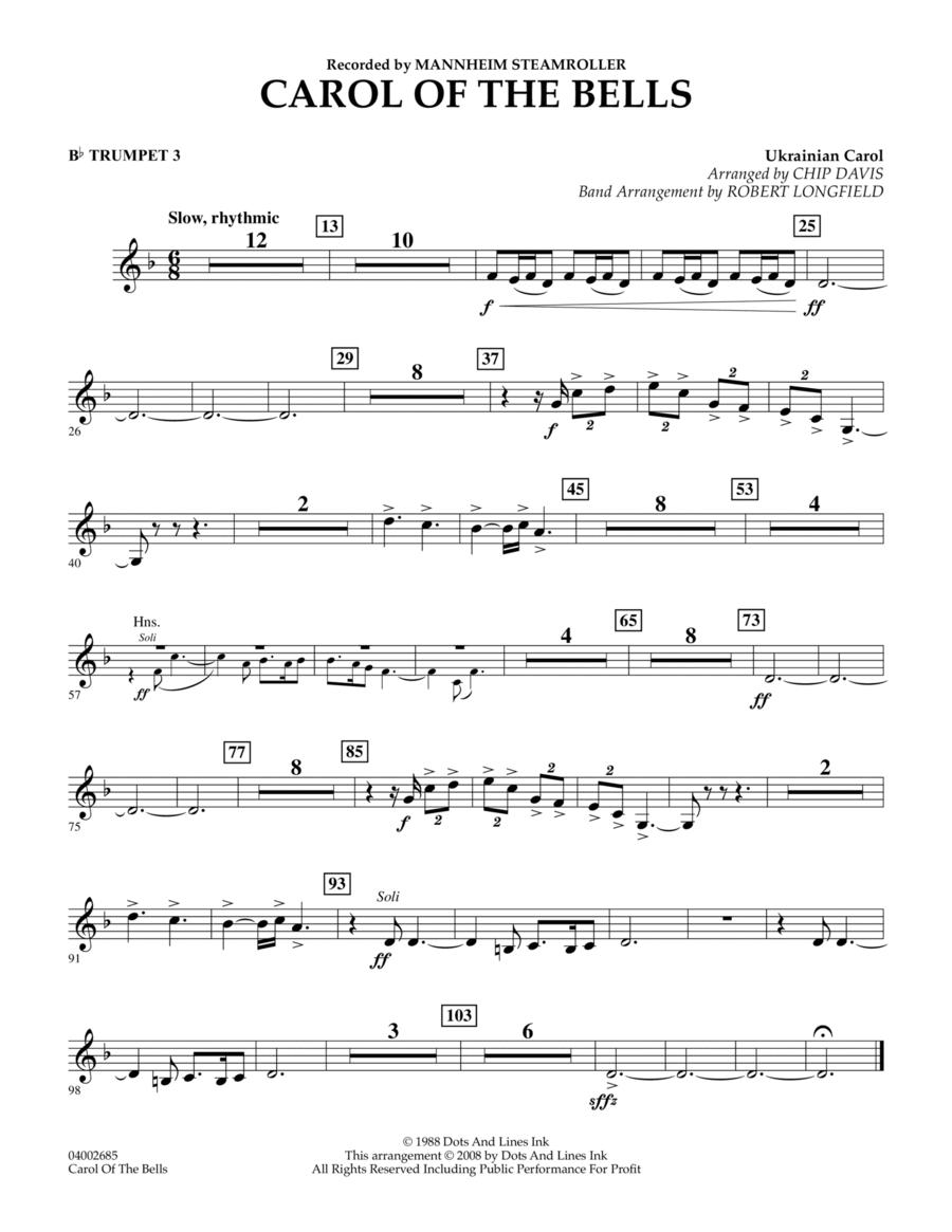 Carol Of The Bells - Bb Trumpet 3