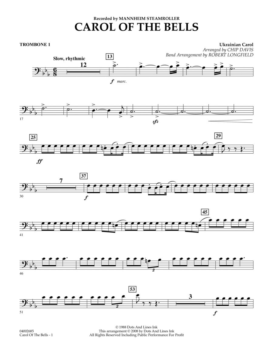 Carol Of The Bells - Trombone 1