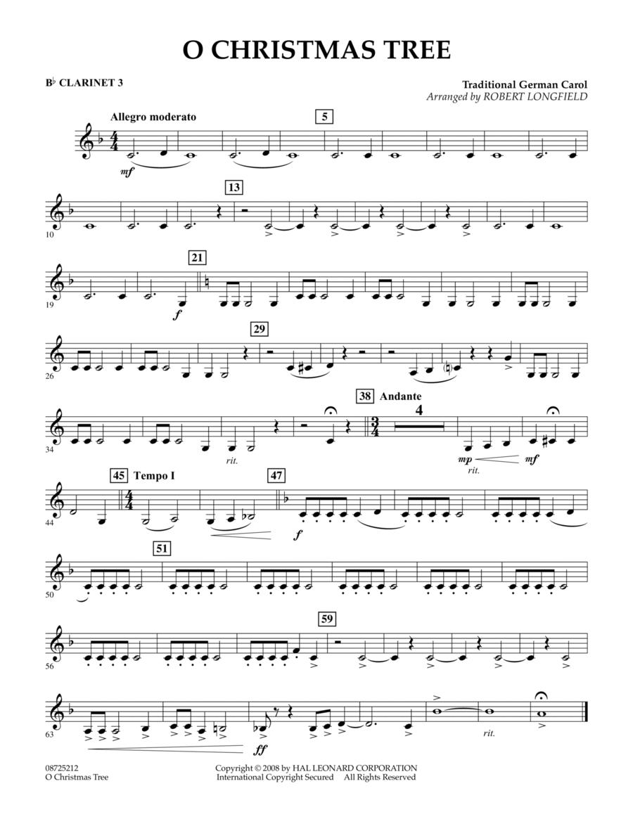 O Christmas Tree - Bb Clarinet 3