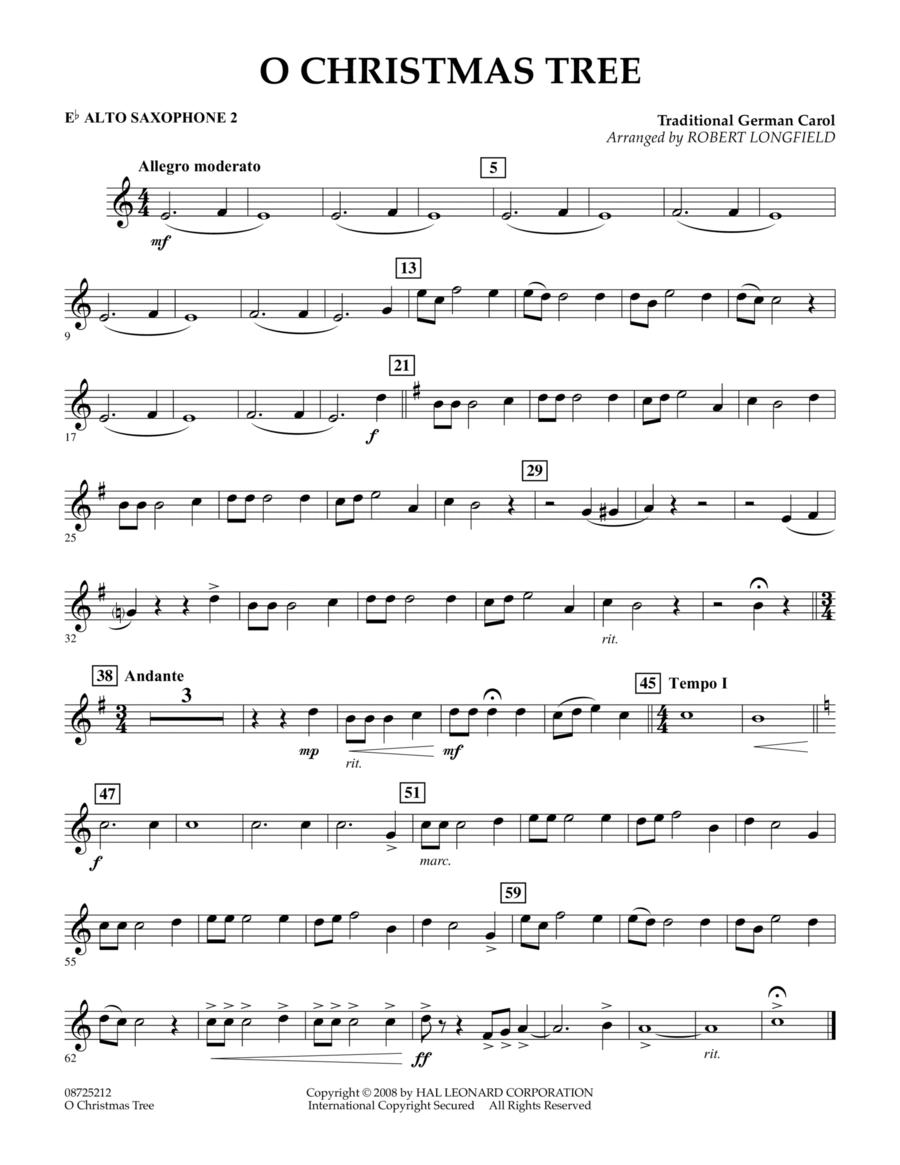 O Christmas Tree - Eb Alto Saxophone 2