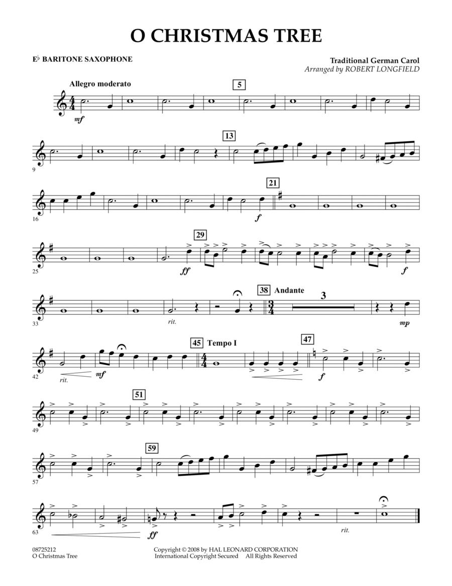 O Christmas Tree - Eb Baritone Saxophone