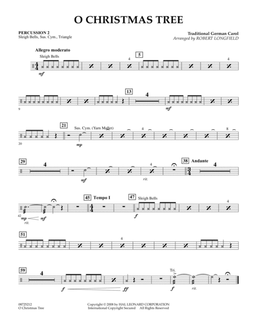 O Christmas Tree - Percussion 2