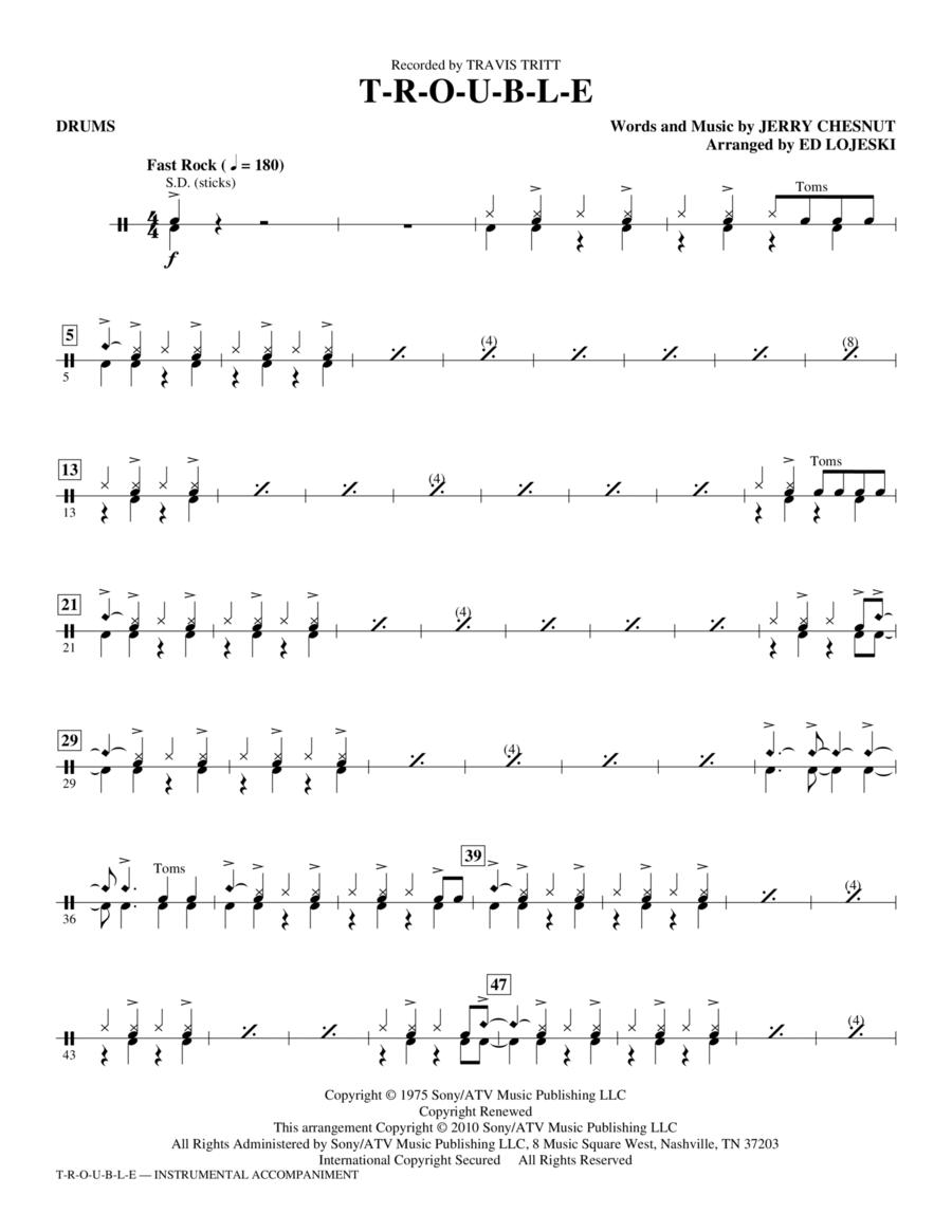 T-R-O-U-B-L-E - Drums