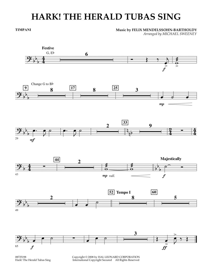 Hark! The Herald Tubas Sing - Timpani