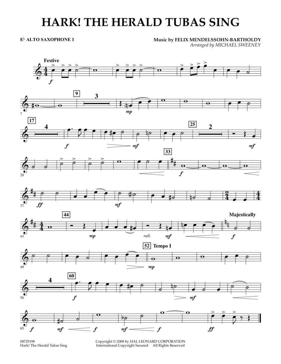 Hark! The Herald Tubas Sing - Eb Alto Saxophone 1