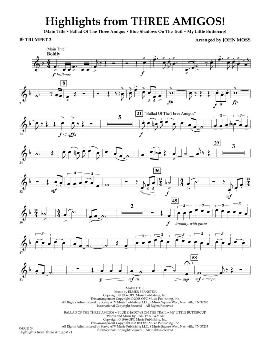 Highlights from Three Amigos! - Bb Trumpet 2