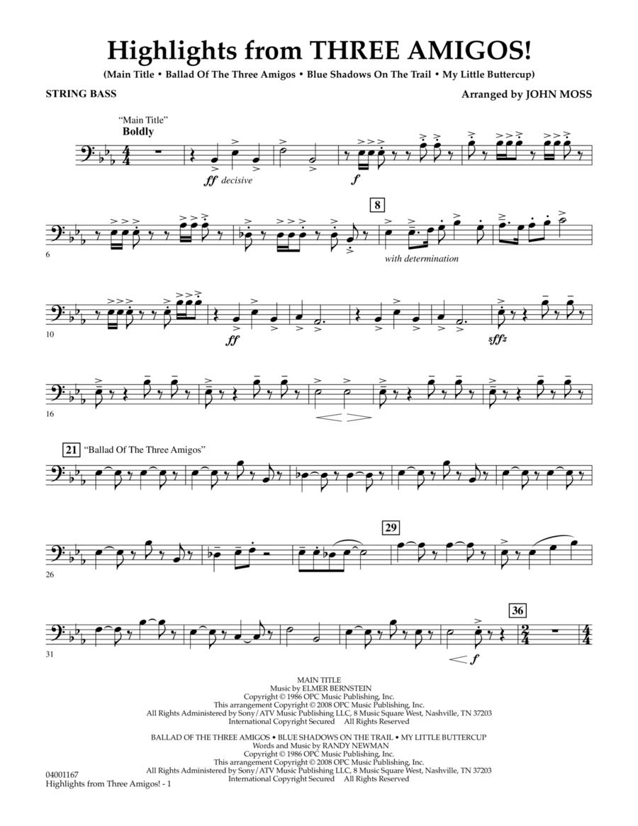 Highlights from Three Amigos! - String Bass
