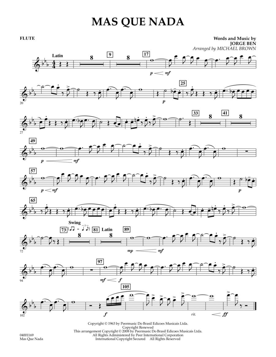 Mas Que Nada - Flute