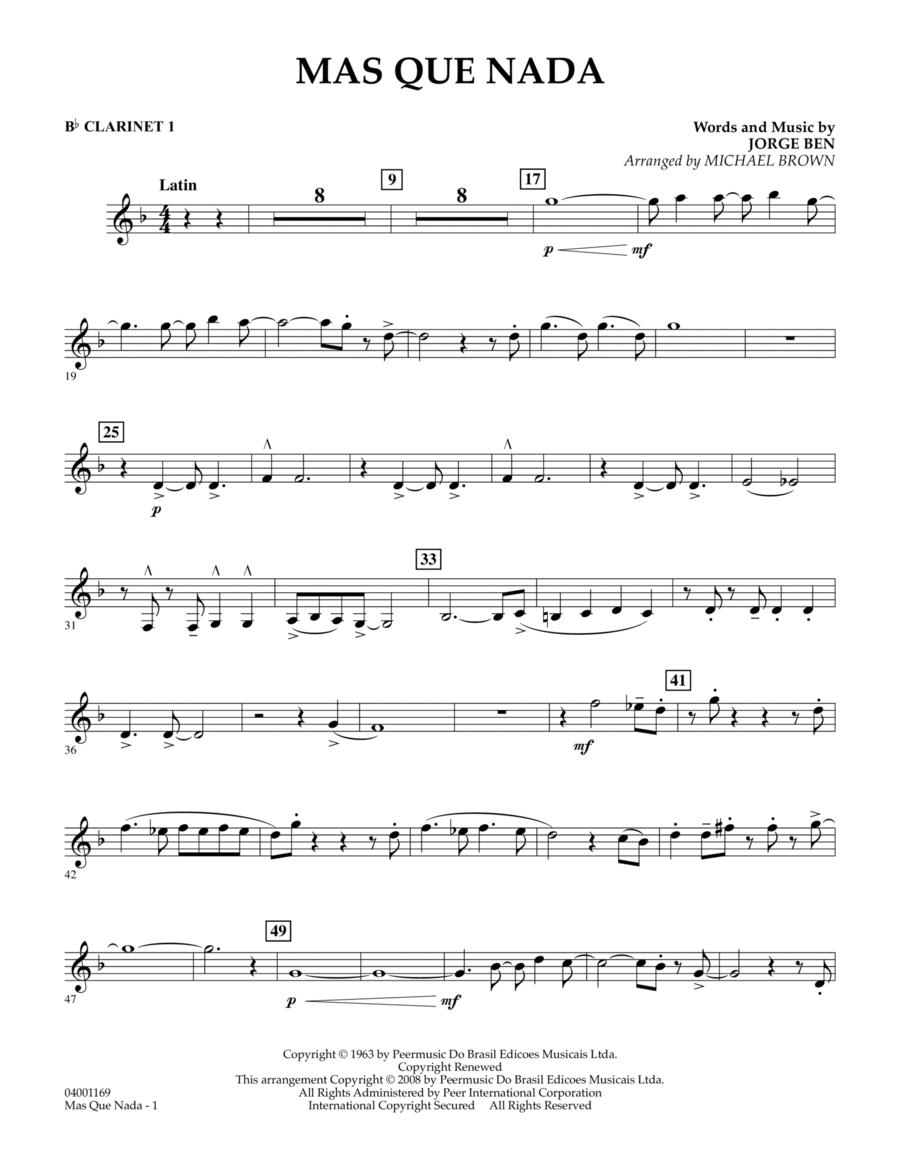 Mas Que Nada - Bb Clarinet 1