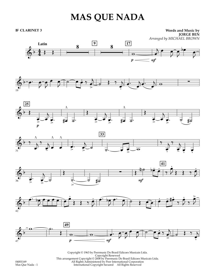 Mas Que Nada - Bb Clarinet 3