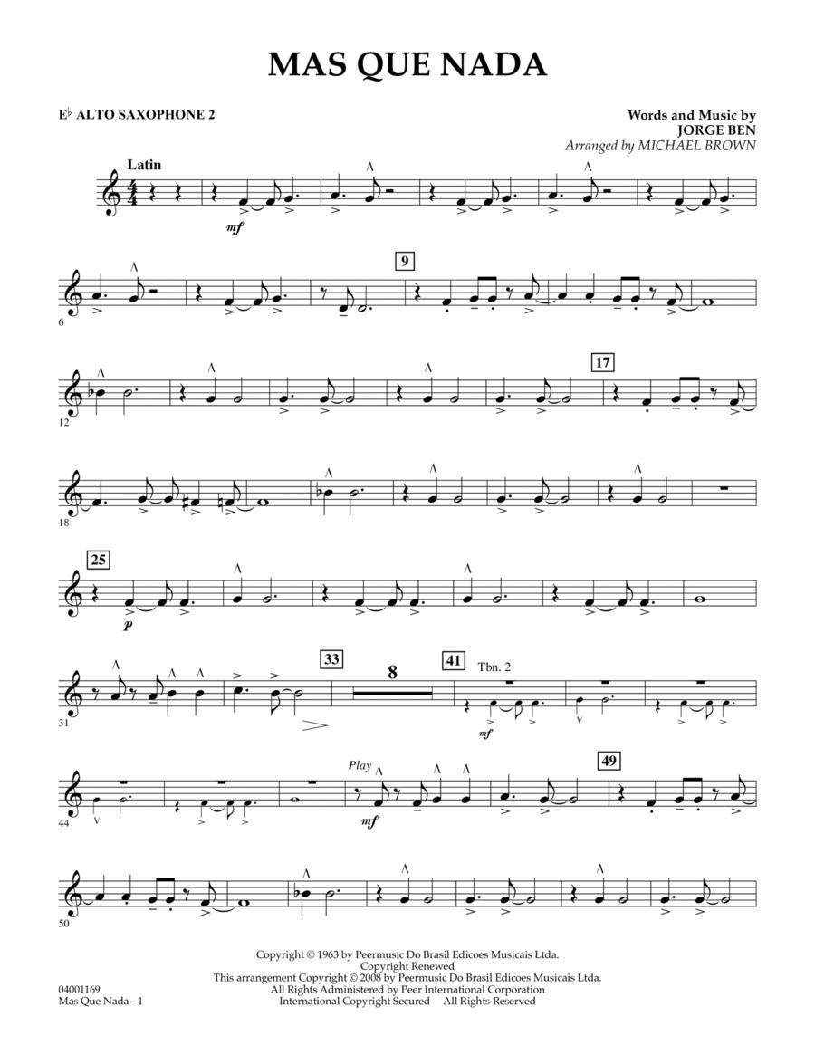 Mas Que Nada - Eb Alto Saxophone 2