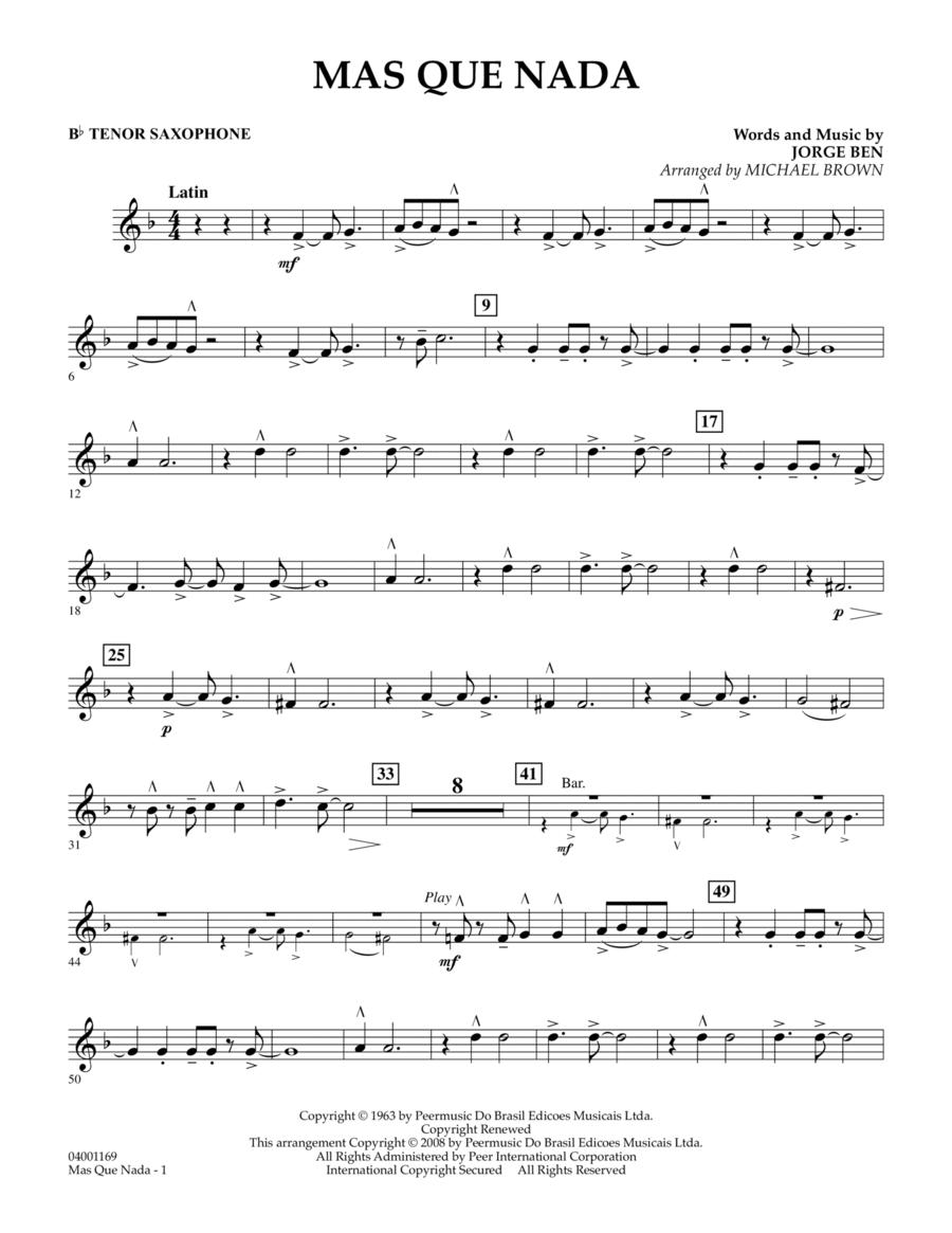 Mas Que Nada - Bb Tenor Saxophone