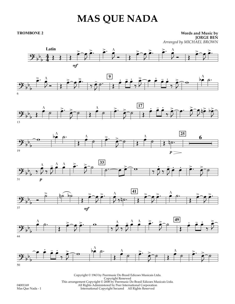 Mas Que Nada - Trombone 2