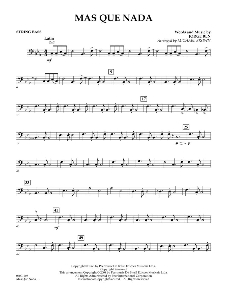 Mas Que Nada - String Bass