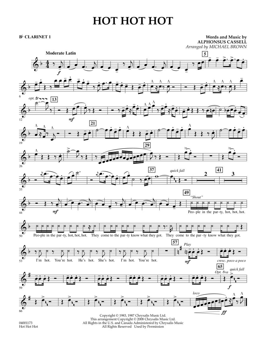Hot Hot Hot - Bb Clarinet 1