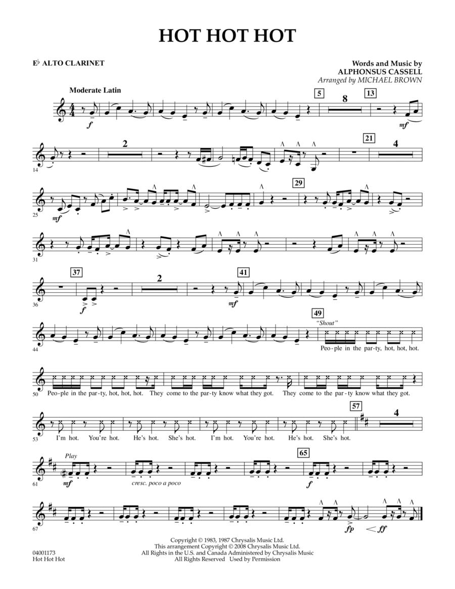 Hot Hot Hot - Eb Alto Clarinet