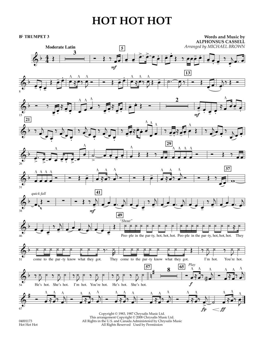 Hot Hot Hot - Bb Trumpet 3