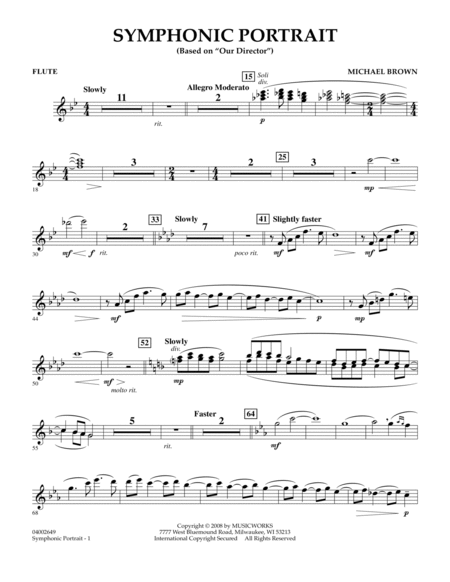 Symphonic Portrait (based on Our Director) - Flute