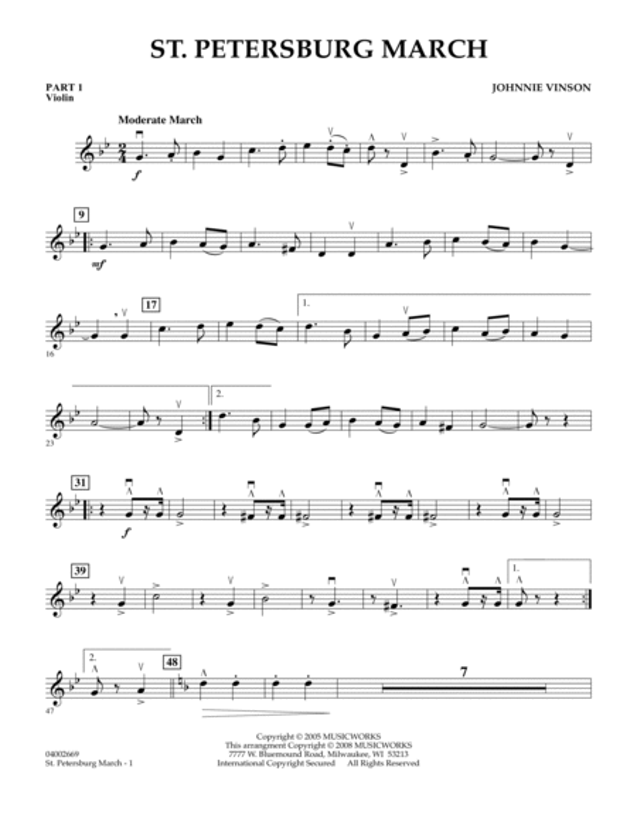 St. Petersburg March - Pt.1 - Violin