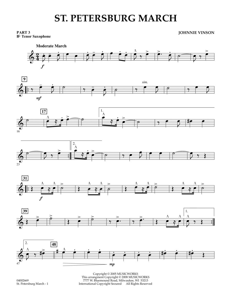 St. Petersburg March - Pt.3 - Bb Tenor Saxophone