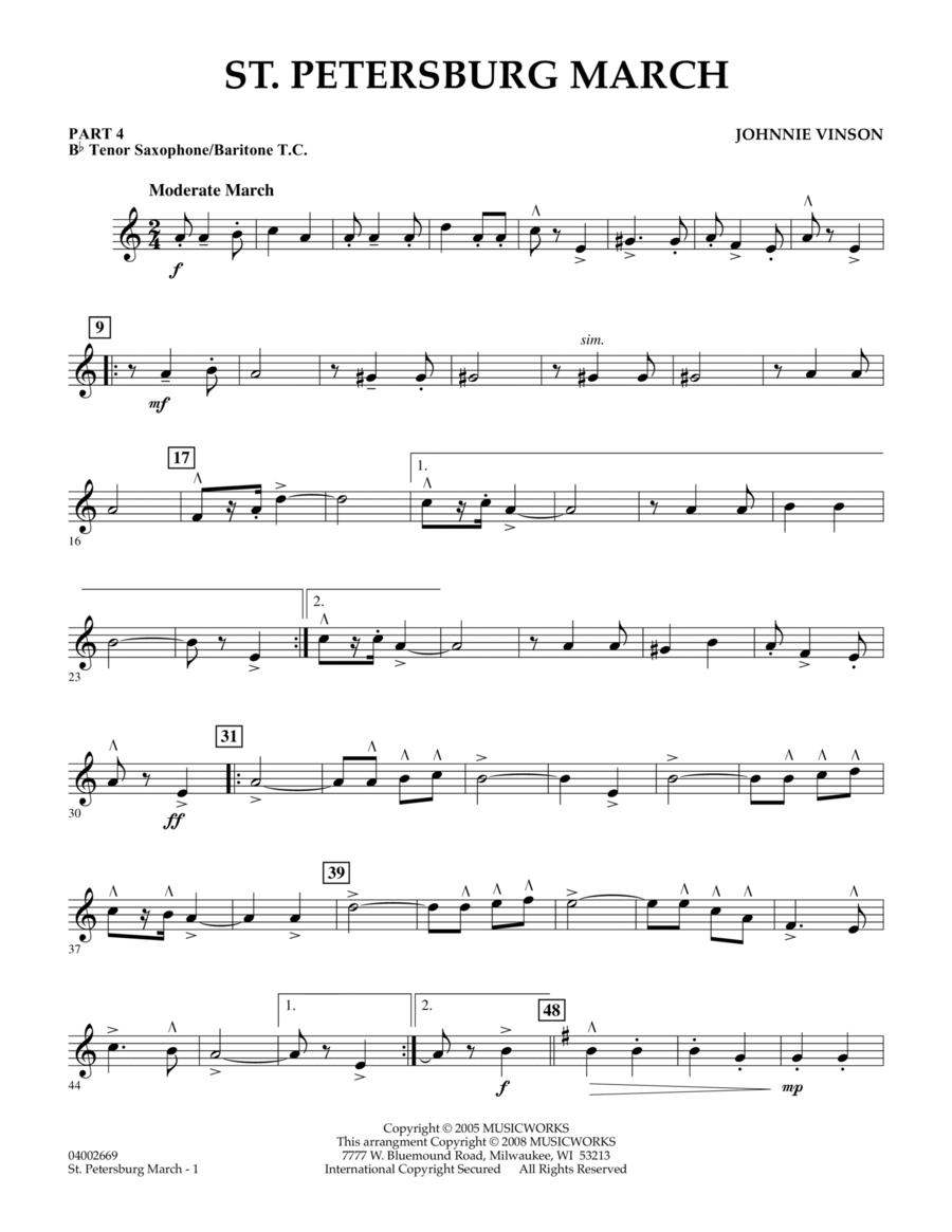 St. Petersburg March - Pt.4 - Bb Tenor Sax/Bar. T.C.