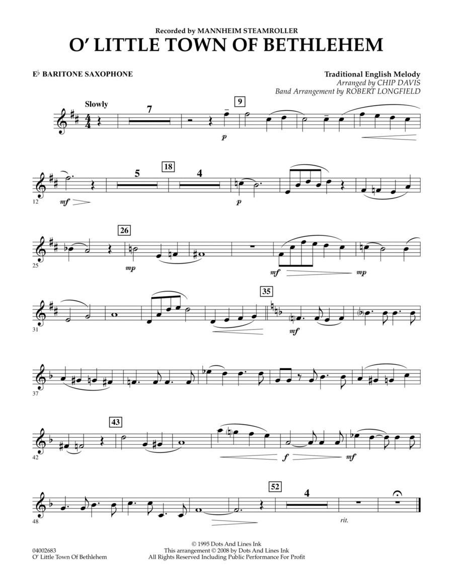 O Little Town Of Bethlehem - Eb Baritone Saxophone