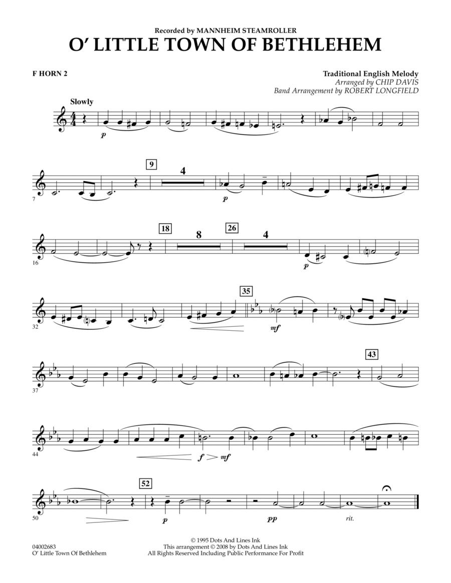 O Little Town Of Bethlehem - F Horn 2