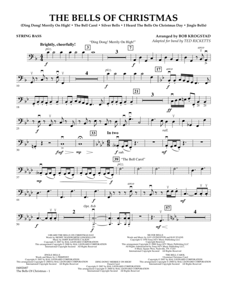 The Bells Of Christmas - String Bass