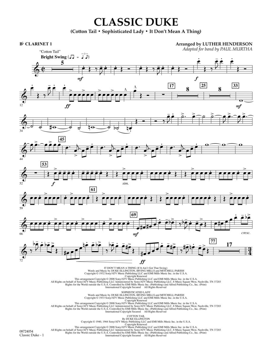 Classic Duke - Bb Clarinet 1
