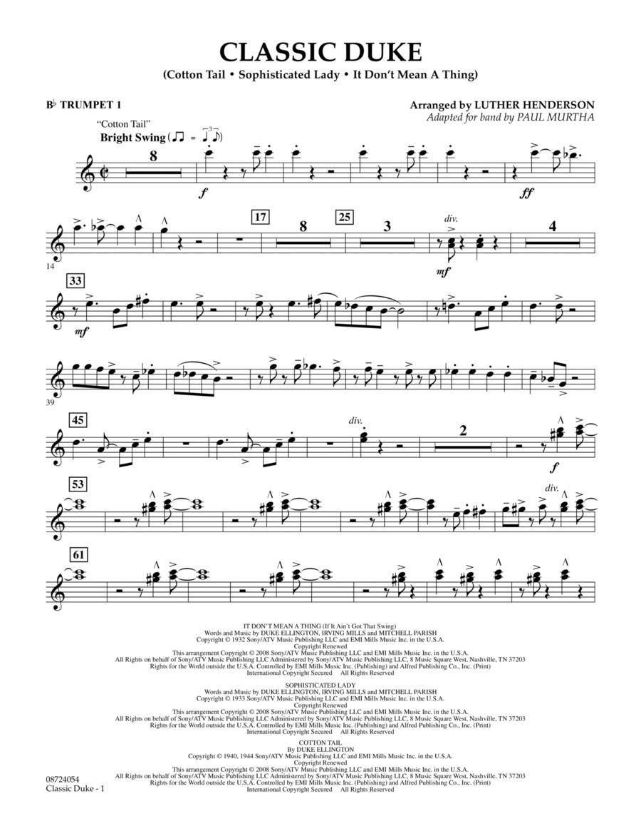 Classic Duke - Bb Trumpet 1