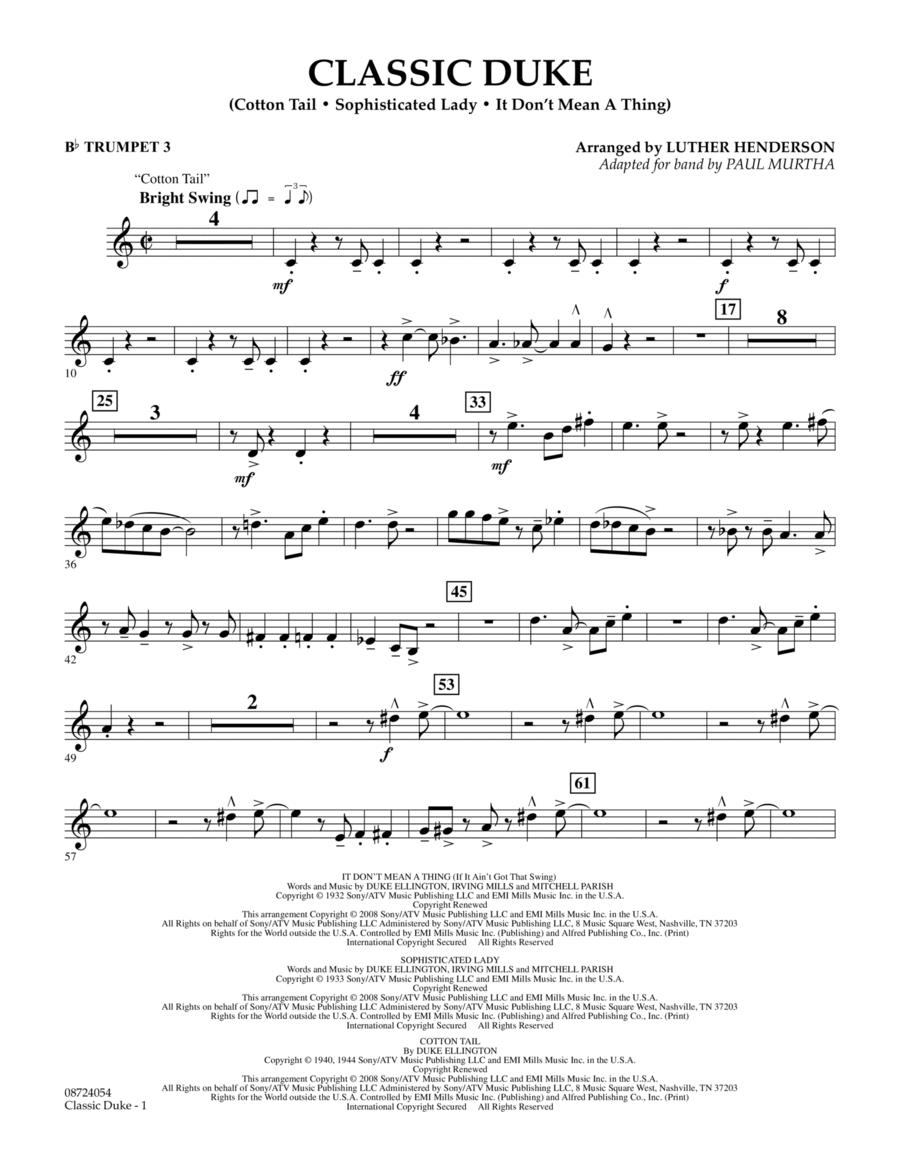 Classic Duke - Bb Trumpet 3