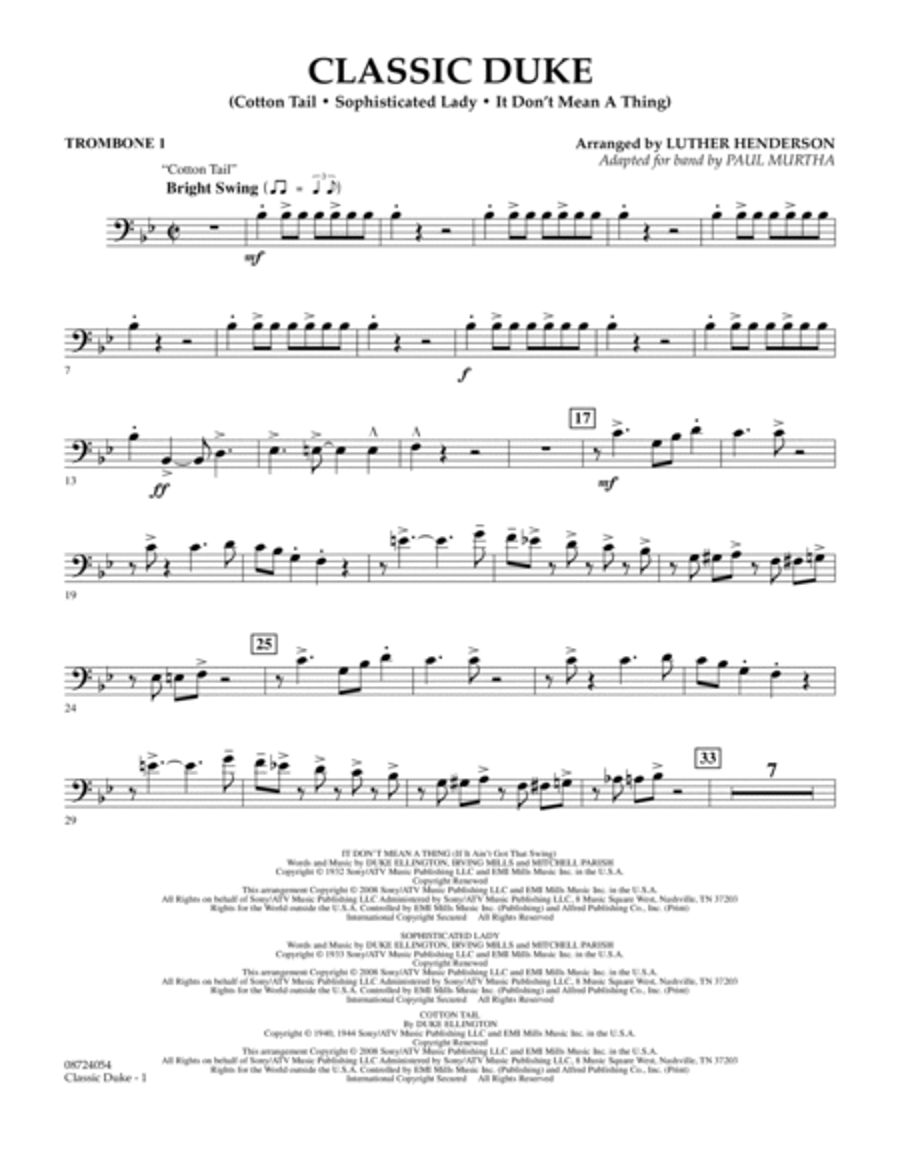 Classic Duke - Trombone 1