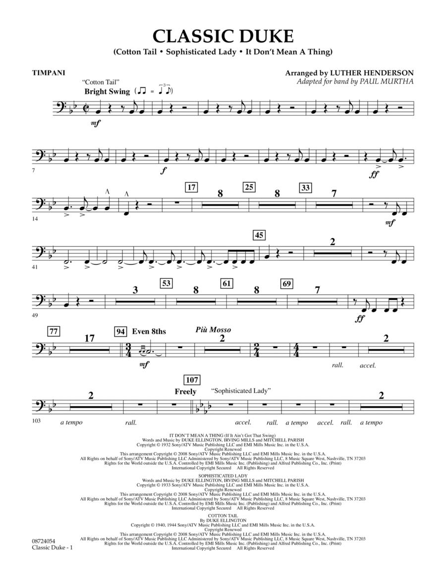 Classic Duke - Timpani